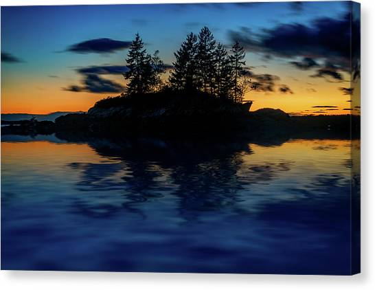 Canvas Print featuring the photograph Dusk At Lookout Point by Rick Berk