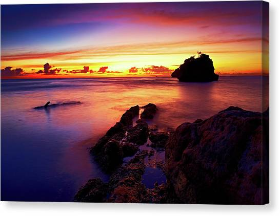 Dusk, Columbus Bay Canvas Print