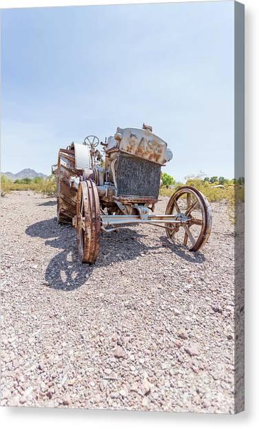 American Steel Canvas Print - Dust Bowl Farm by Edward Fielding
