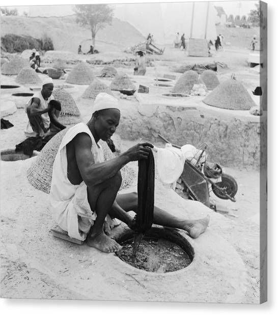 Nigeria Canvas Print - Dye Pits by Keystone Features