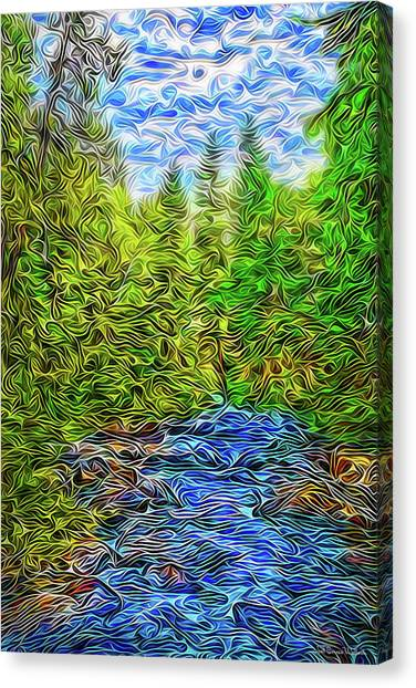 Canvas Print featuring the digital art Dynamic Energies by Joel Bruce Wallach