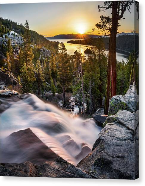 Altitude Canvas Print - Eagle Falls California by Leland D Howard