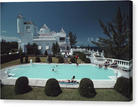 Earl Levys Castle Canvas Print by Slim Aarons