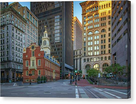 Early Morning At The Old Statehouse Canvas Print