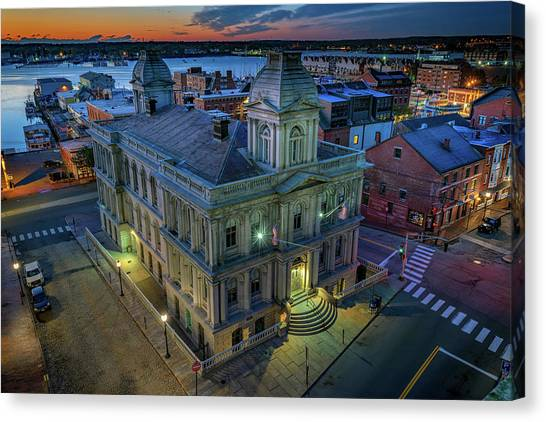 Canvas Print featuring the photograph Early Morning In The Old Port by Rick Berk