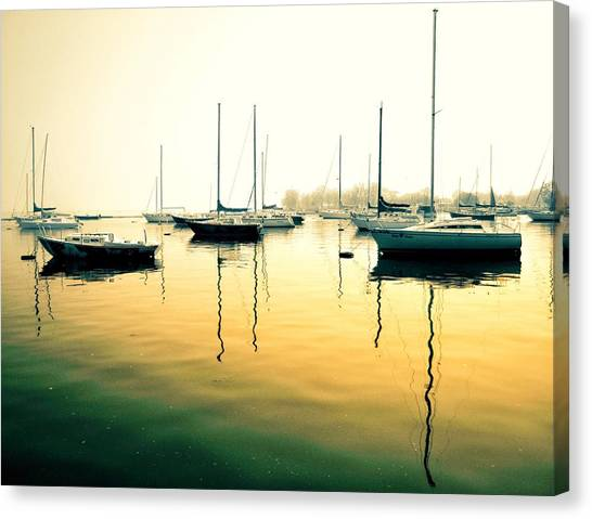 Early Mornings At The Harbour Canvas Print