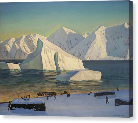 Early November North Greenland Canvas Print by Rockwell Kent