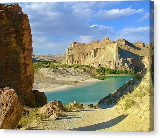 Hindu Kush Canvas Print - Earth & Water   Band-e Amir   Bamiyan by (c) Hadi Zaher