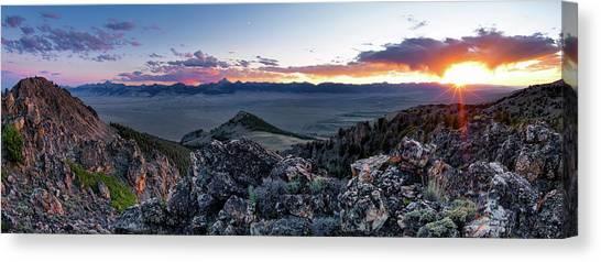 Altitude Canvas Print - East Central Idaho Sunset by Leland D Howard