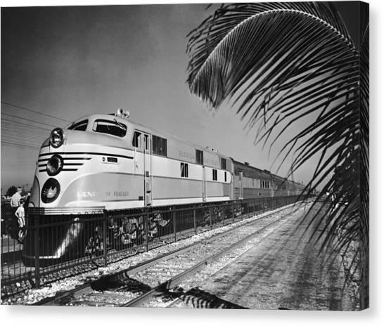 East Coast Train Canvas Print by R. Gates