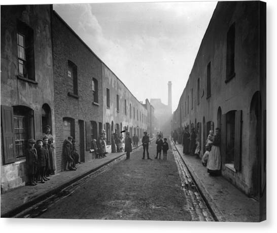 East End Street Canvas Print by Topical Press Agency
