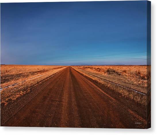 Dirt Road Canvas Print - East Montana Road by Leland D Howard