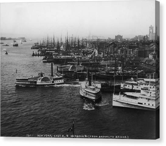 East River Harbour Canvas Print by P. L. Sperr