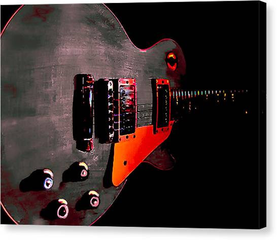 Ebony Relic Guitar Hover Series Canvas Print