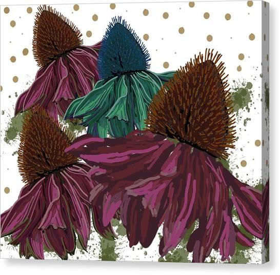 Echinacea Flower Skirts Canvas Print