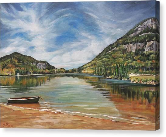 Echo Lake In Franconia Notch New Hampshire Canvas Print