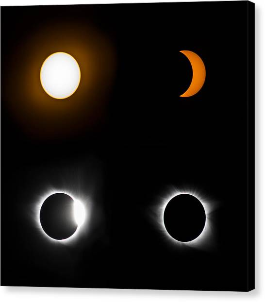 Eclipse Phases Canvas Print by Christine Buckley
