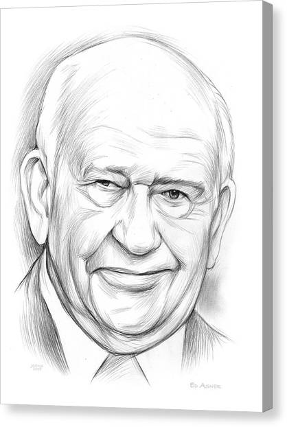Pencils Canvas Print - Ed Asner by Greg Joens