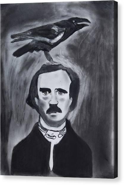 Edgar Allen Poe Drawing Canvas Print