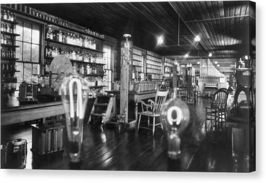 Edisons Lab Canvas Print by Hulton Archive