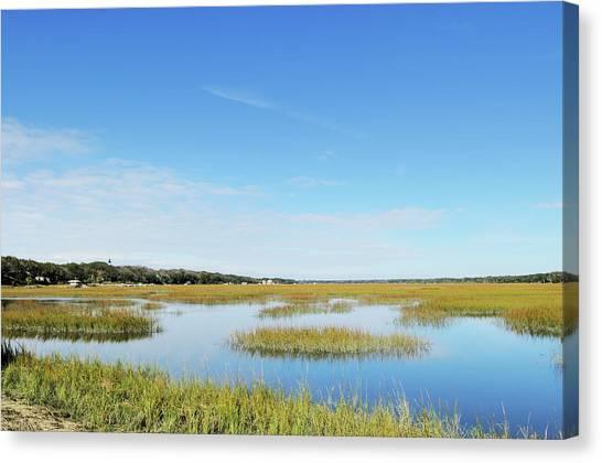Marsh Grass Canvas Print - Egan Creek Greenway Marsh And Amelia by Purdue9394
