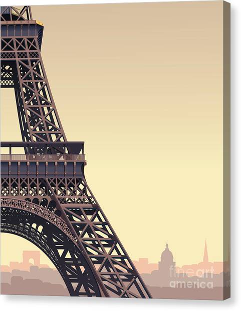 Famous Places Canvas Print - Eiffel Tower At Sunset by Nikola Knezevic