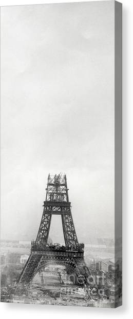 Parisian Canvas Print - Eiffel Tower Being Built, Paris, 14th October And 14th November 1888 by French School