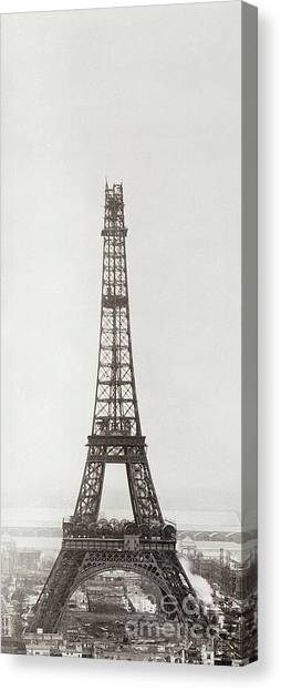 Parisian Canvas Print - Eiffel Tower, Paris, 12th February And 12th March 1889 by French School
