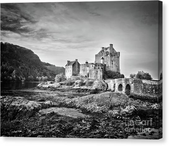 Fortification Canvas Print - Eilean Donan Castle, Scotland by Delphimages Photo Creations