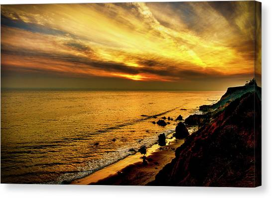 El Matador Beach Sunset Canvas Print