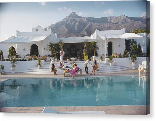 El Venero Canvas Print by Slim Aarons