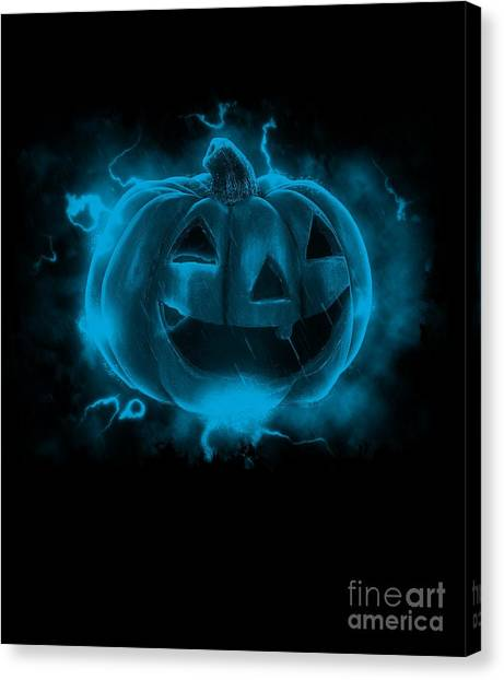 Electric Pumpkin Canvas Print