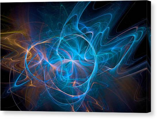 Electric Universe Blue Canvas Print