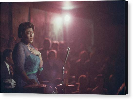 Ella Fitzgerald Performs Canvas Print