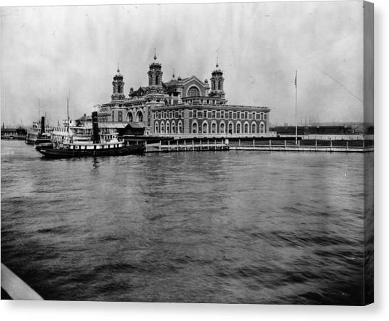 Ellis Island Canvas Print by Hulton Archive