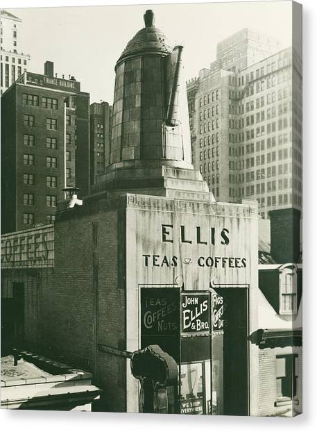 Ellis Tea And Coffee Store, 1945 Canvas Print