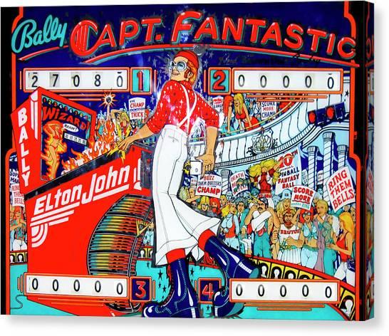 Elton John Canvas Print - Elton John Pinball Wizard by Dominic Piperata