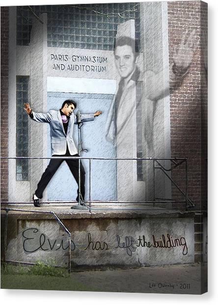 Elvis Has Left The Building Canvas Print