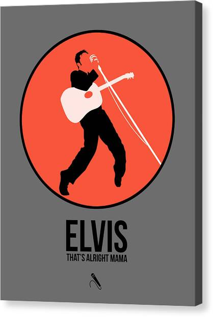 Rock Music Canvas Print - Elvis Presley by Naxart Studio