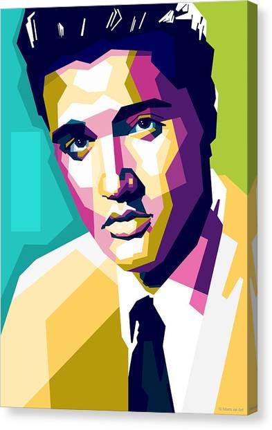 Elvis Presley Canvas Print - Elvis Presley by Stars-on- Art