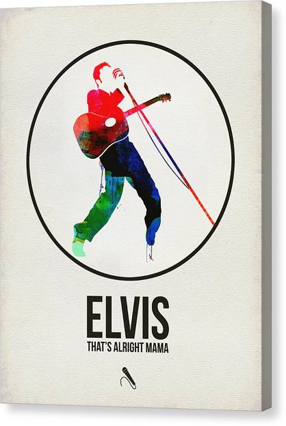 Rock Music Canvas Print - Elvis Presley Watercolor by Naxart Studio