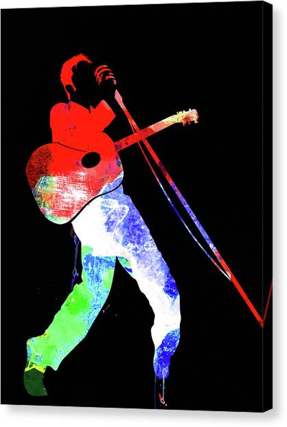 Elvis Canvas Print - Elvis Watercolor II by Naxart Studio