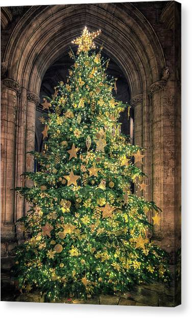 Ely Cathedral Christmas Tree 2018 Canvas Print