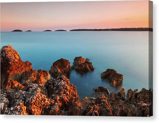 Canvas Print featuring the photograph Ember And Blue by Davor Zerjav