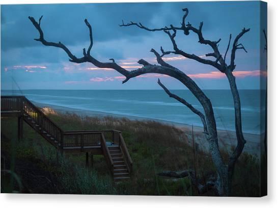 Emerald Isle Obx - Blue Hour - North Carolina Summer Beach Canvas Print