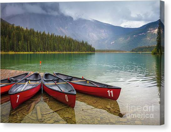 Foggy Forests Canvas Print - Emerald Lake by Inge Johnsson