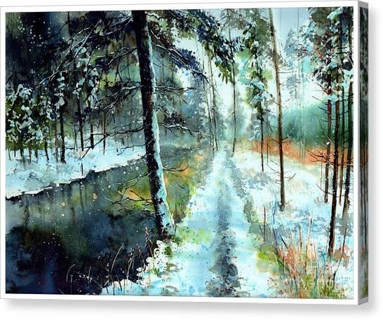 Augusta Canvas Print - Emerald Winter Scene by Suzann Sines