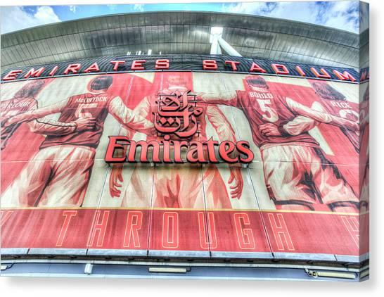 Arsenal Fc Canvas Print - Emirates Stadium London by David Pyatt
