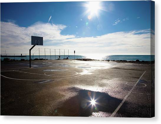 Empty Basketball Court, Nice, France Canvas Print