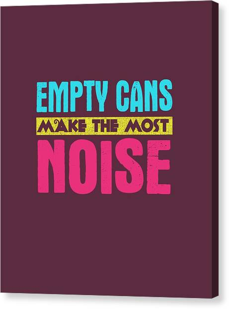 Empty Cans Canvas Print